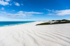 De hoop nature reserve white dunes and crystal clear waters of the Indian ocean stock image