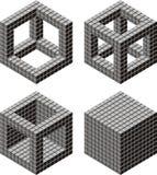 De hoop van de kubus   vector illustratie