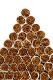 De hoop van de sigarettendriehoek stock afbeelding