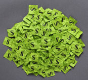 De hoop van dollartekens Stock Foto