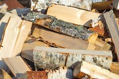 De hoop van het berkbrandhout Royalty-vrije Stock Fotografie