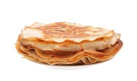 De hoop van pannekoeken stock foto