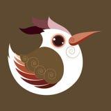 De Hoopoe-vogel abstracte voorhistorische kleur Royalty-vrije Stock Fotografie