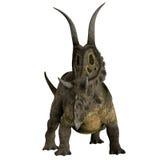 De Hoornen van de Diabloceratopsdinosaurus stock illustratie