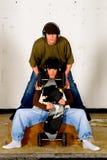 De hopcultuur van de heup, tieners stock afbeeldingen