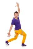 De hopdanser van de heup die over wit wordt geïsoleerdA Royalty-vrije Stock Afbeeldingen