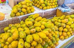 De hopen van papaja royalty-vrije stock afbeeldingen
