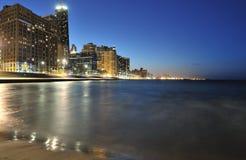 De Horizon en Meer Michigan van Chicago Stock Afbeelding