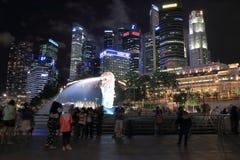 De Horizon en Merlion van Singapore Royalty-vrije Stock Foto's