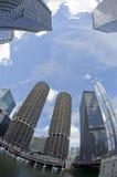 De Horizon Fisheye van Chicago Stock Afbeeldingen