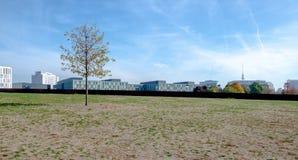 De horizon moderne cityscape van Berlijn royalty-vrije stock foto