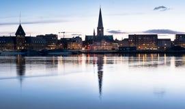 De horizon van Aarhus, Denemarken Royalty-vrije Stock Foto's