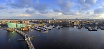 De Horizon van Amsterdam Stock Foto