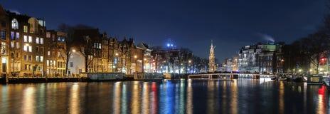 De horizon van Amsterdam Stock Foto's
