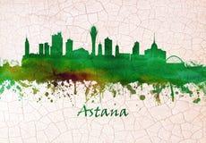 De horizon van Astanakazachstan royalty-vrije illustratie
