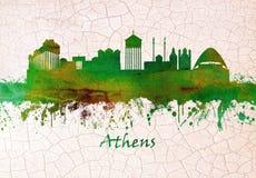 De Horizon van Athene Griekenland royalty-vrije illustratie