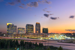 De horizon van Atlanta Georgia Midtown stock afbeelding