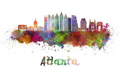 De horizon van Atlanta V2 in waterverf royalty-vrije illustratie