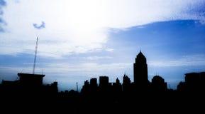 De horizon van Bangkok en stedelijke landschappen Royalty-vrije Stock Foto