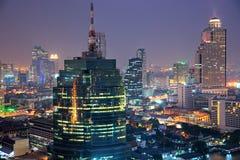 De horizon van Bangkok, Thailand. royalty-vrije stock fotografie