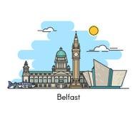 De horizon van Belfast Ierland, het Verenigd Koninkrijk Royalty-vrije Stock Afbeeldingen