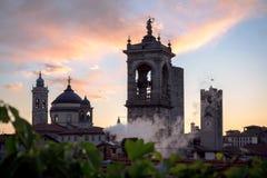 De Horizon van Bergamo ` s stock foto