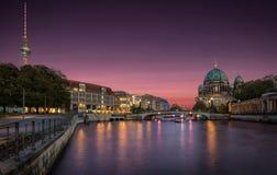 De horizon van Berlijn, Duitsland Royalty-vrije Stock Foto's