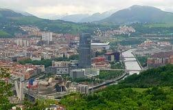 De horizon van Bilbao Royalty-vrije Stock Fotografie