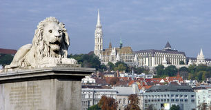 De horizon van Boedapest Stock Afbeeldingen