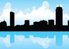 De Horizon van Boston stock illustratie