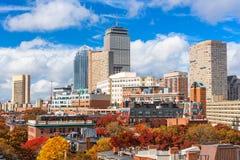 De Horizon van Boston in de Herfst Royalty-vrije Stock Foto's