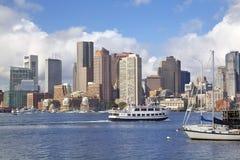De horizon van Boston, de V.S. royalty-vrije stock foto