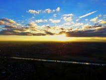 De horizon van Boston Lincolnshire Royalty-vrije Stock Fotografie