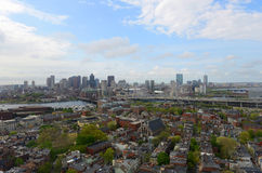 De horizon van Boston, Massachusetts, de V Stock Afbeelding