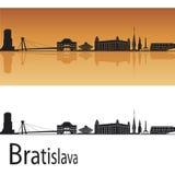 De horizon van Bratislava royalty-vrije illustratie