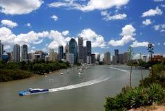 De horizon van Brisbane stock afbeelding