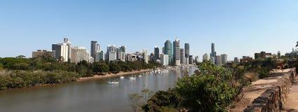 De horizon van Brisbane royalty-vrije stock afbeeldingen