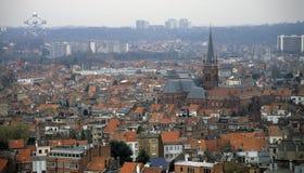 De Horizon van Brussel Stock Afbeeldingen