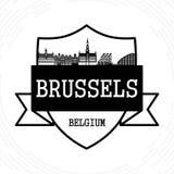 De horizon van Brussel royalty-vrije illustratie