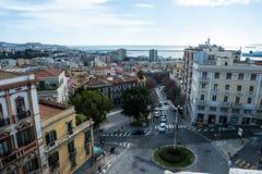 De horizon van Cagliari, Cagliari, Sardinige, Italië stock fotografie