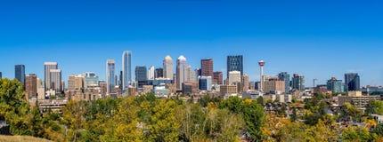 De horizon van Calgary Royalty-vrije Stock Afbeeldingen