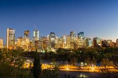 De horizon van Calgary stock afbeelding