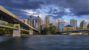 De horizon van Calgary timelapse stock video