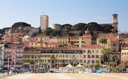 De horizon van Cannes Stock Foto's