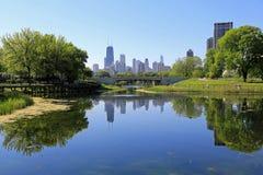 De horizon van Chicago Royalty-vrije Stock Foto's