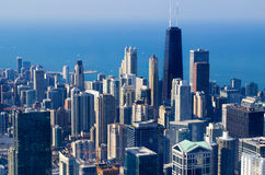 De horizon van Chicago - de V.S. Stock Afbeelding