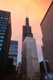 De horizon van Chicago, Illinois Royalty-vrije Stock Afbeeldingen