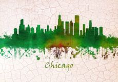 De horizon van Chicago Illinois stock illustratie