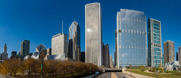 De Horizon van Chicago in Millenniumpark Royalty-vrije Stock Afbeelding