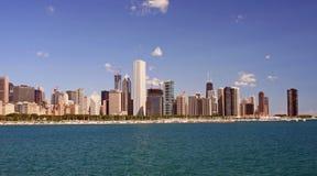 De Horizon van Chicago op een Duidelijke Dag Stock Afbeelding
